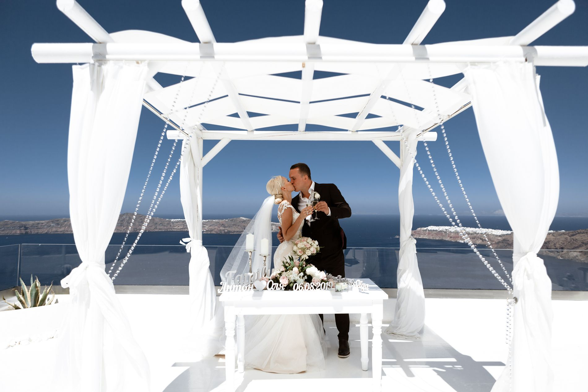 Антон и Ольга: свадьба на санторини, свадебное агентство Julia Veselova - Фото 1