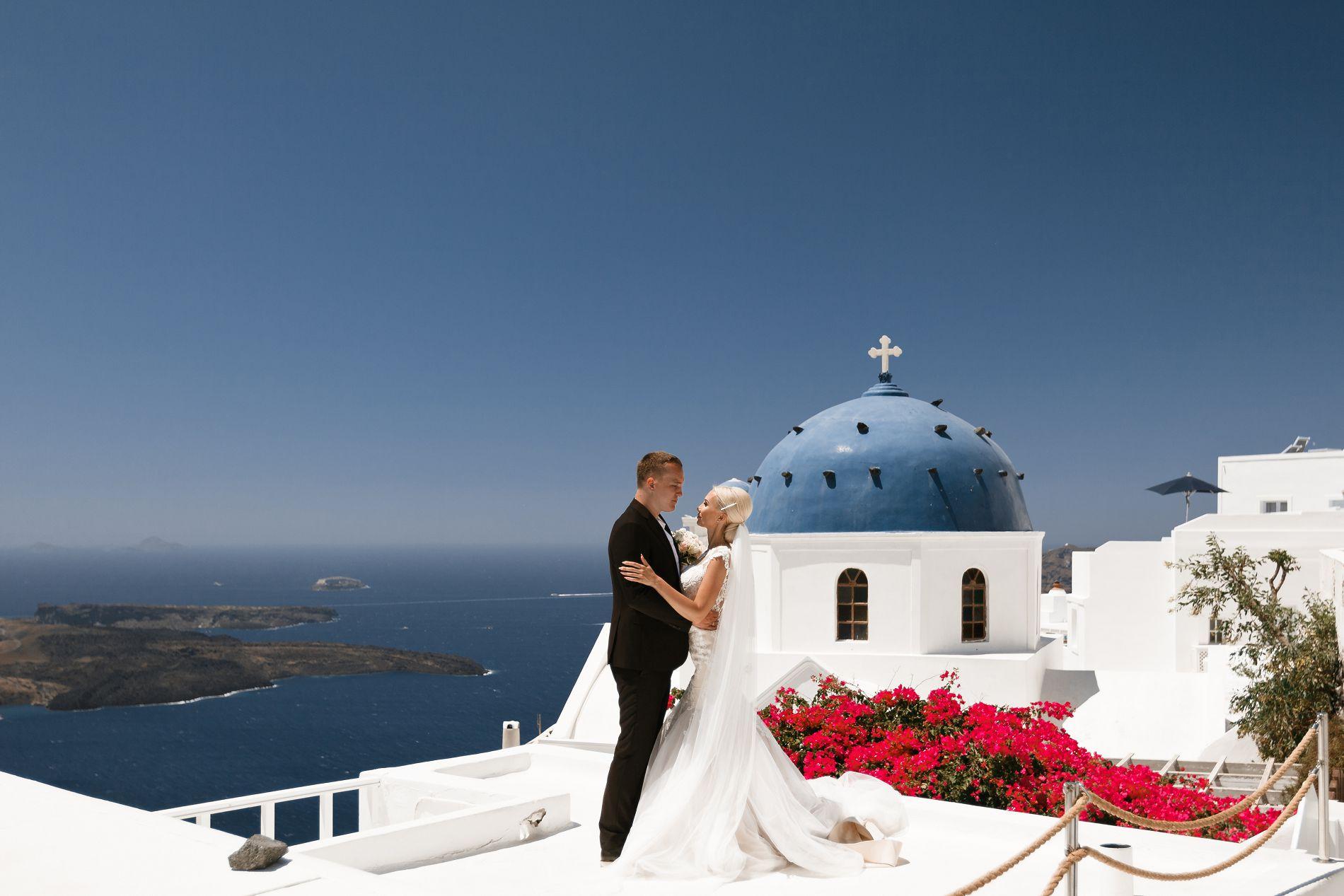 Антон и Ольга: свадьба на санторини, свадебное агентство Julia Veselova - Фото 10