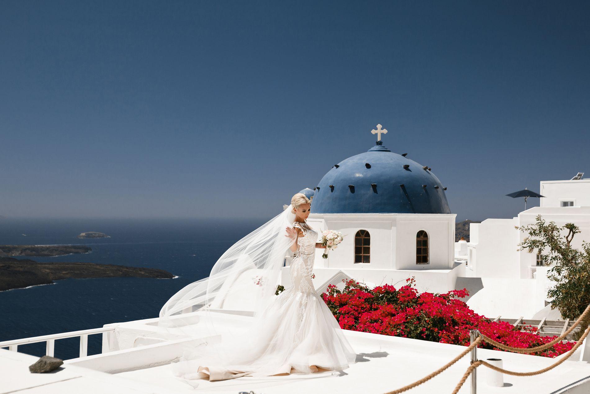 Антон и Ольга: свадьба на санторини, свадебное агентство Julia Veselova - Фото 11
