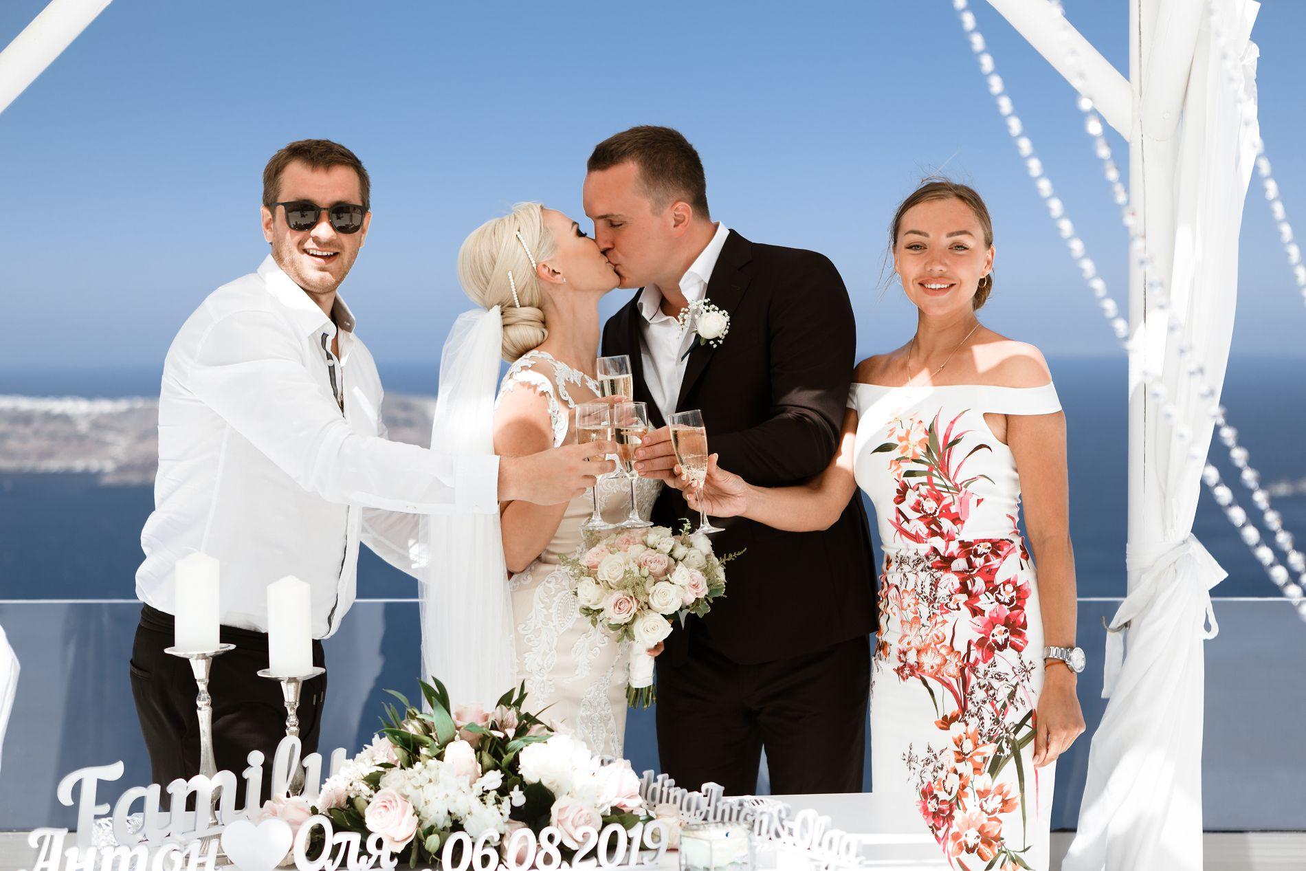 Антон и Ольга: свадьба на санторини, свадебное агентство Julia Veselova - Фото 3
