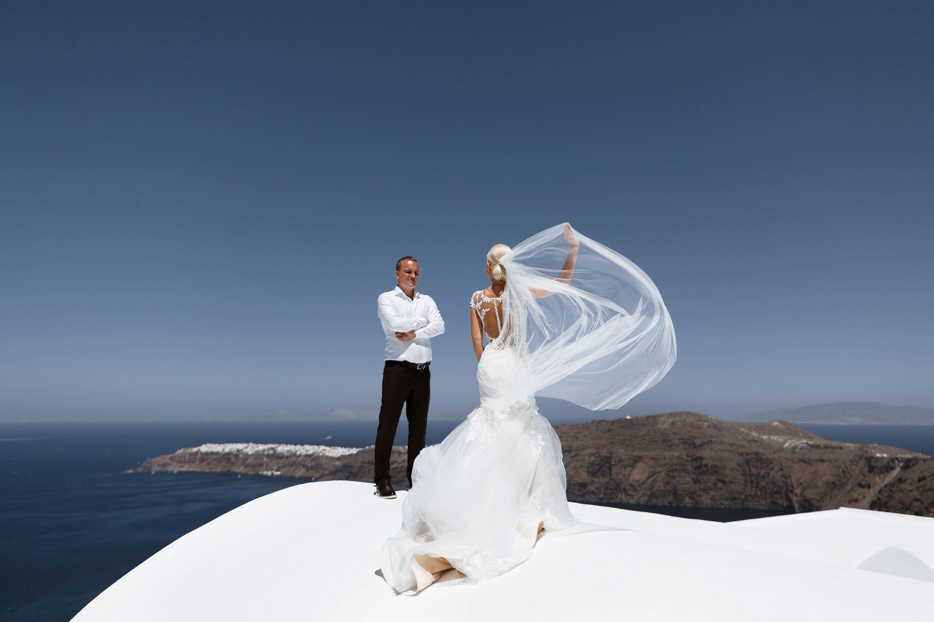 Антон и Ольга: свадьба на санторини, свадебное агентство Julia Veselova - Фото 8