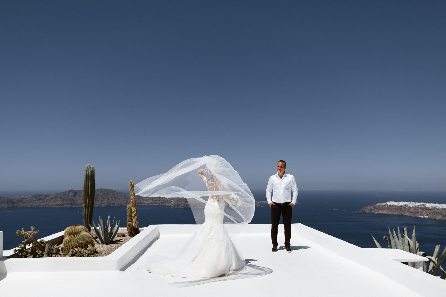Антон и Ольга: свадьба на санторини, свадебное агентство Julia Veselova - Фото 9