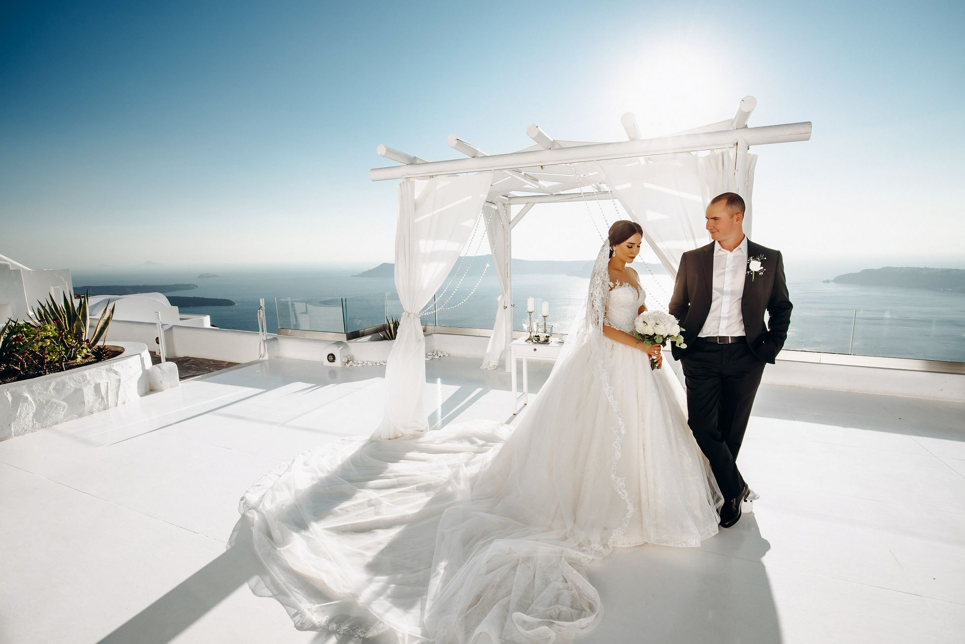 Ангелина и Азис: свадьба на санторини, свадебное агентство Julia Veselova - Фото 9