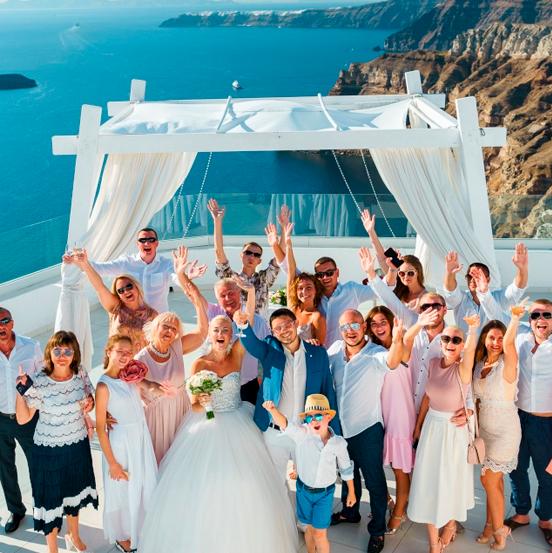 Свадьба в Греции - оформление