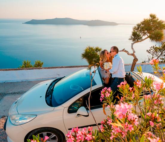 Wedding design in Santorini
