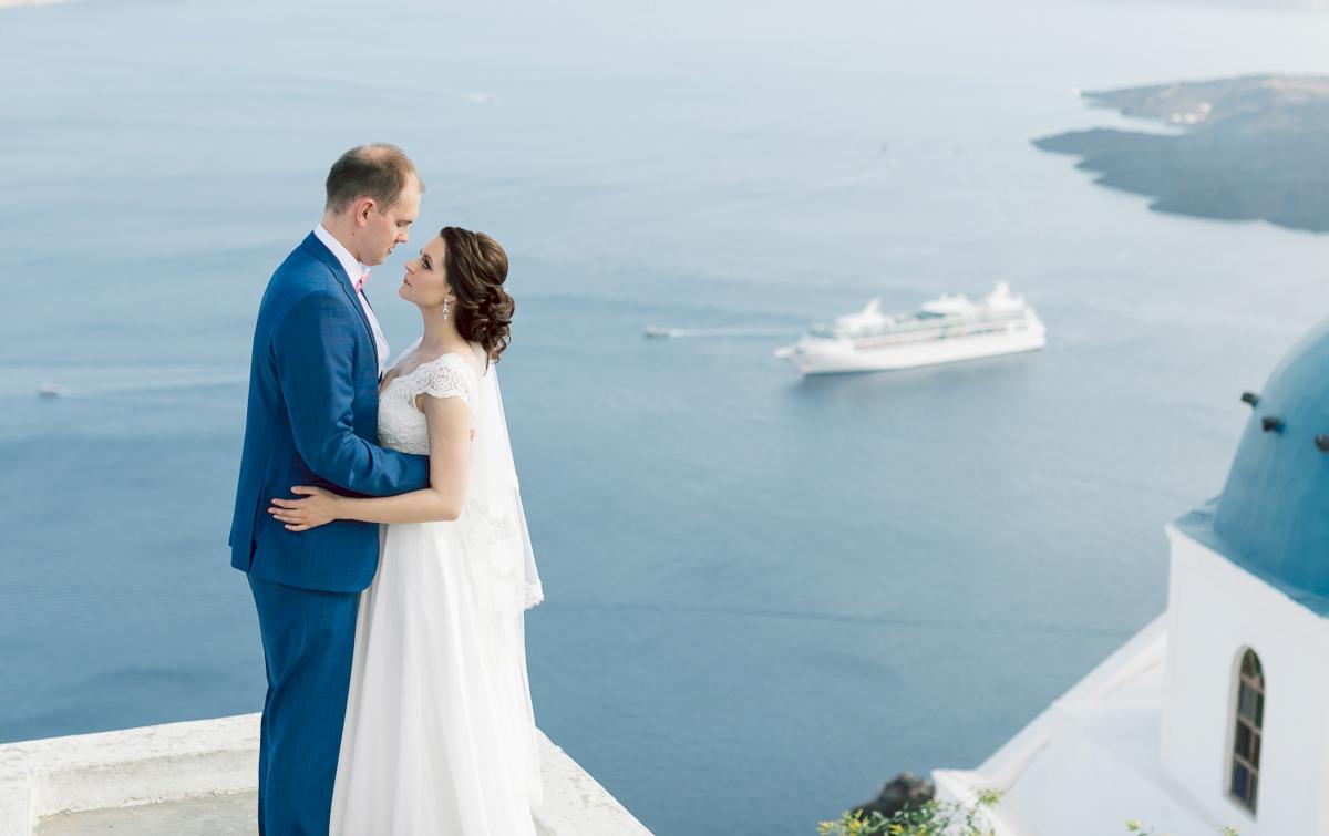 Татьяна и Леонид: свадьба на санторини, свадебное агентство Julia Veselova - Фото 3