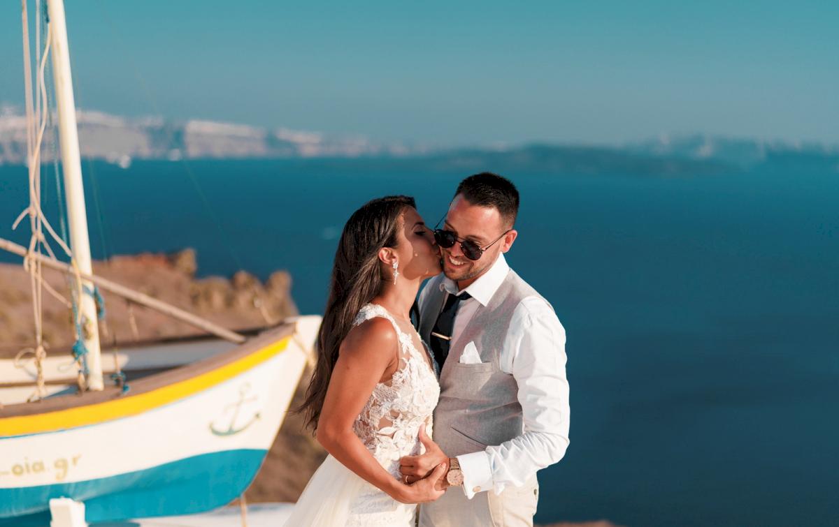 Яна и Рафаэль: свадьба на санторини, свадебное агентство Julia Veselova - Фото 13