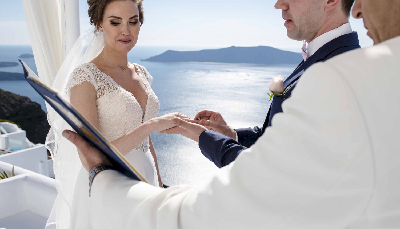 Наталья и Сергей: свадьба на санторини, свадебное агентство Julia Veselova - Фото 11