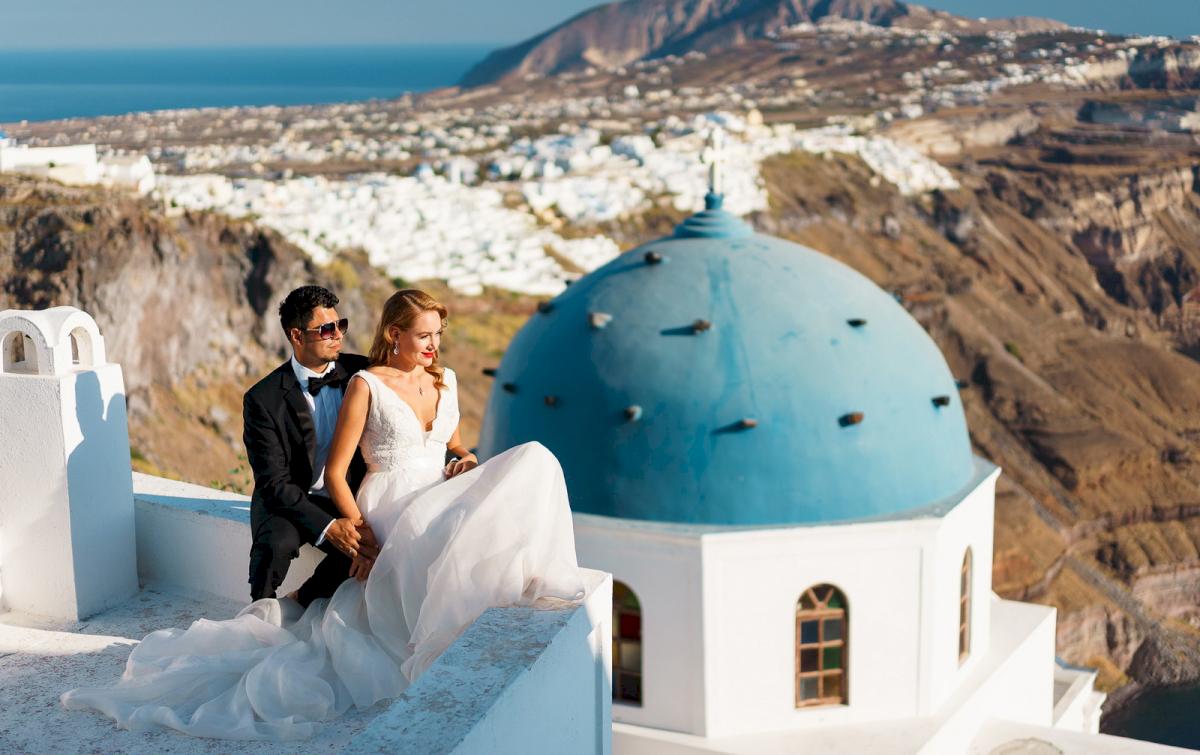 Фредди и Маргарет: свадьба на санторини, свадебное агентство Julia Veselova - Фото 18