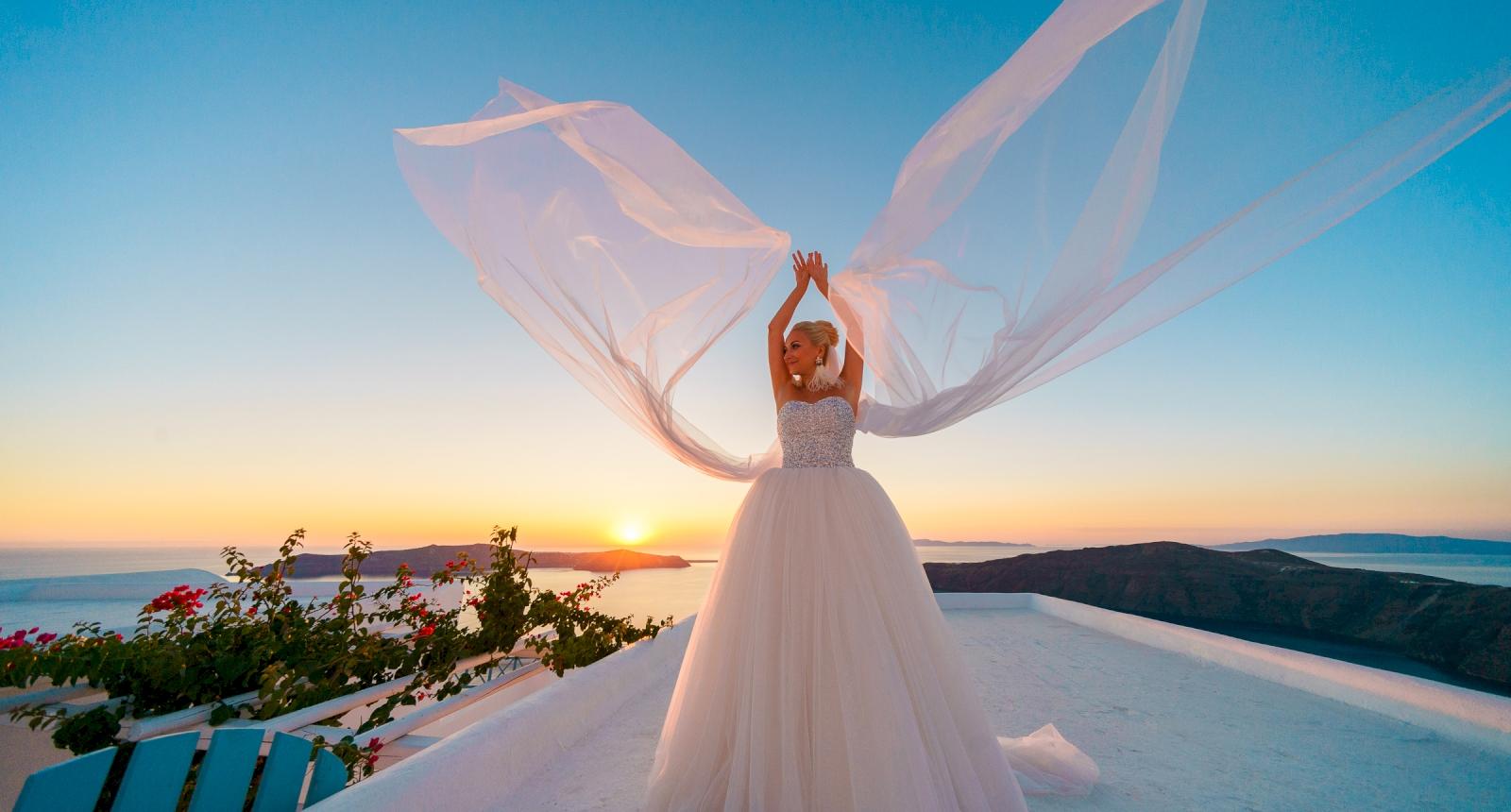 Екатерина и Дмитрий: свадьба на санторини, свадебное агентство Julia Veselova - Фото 7
