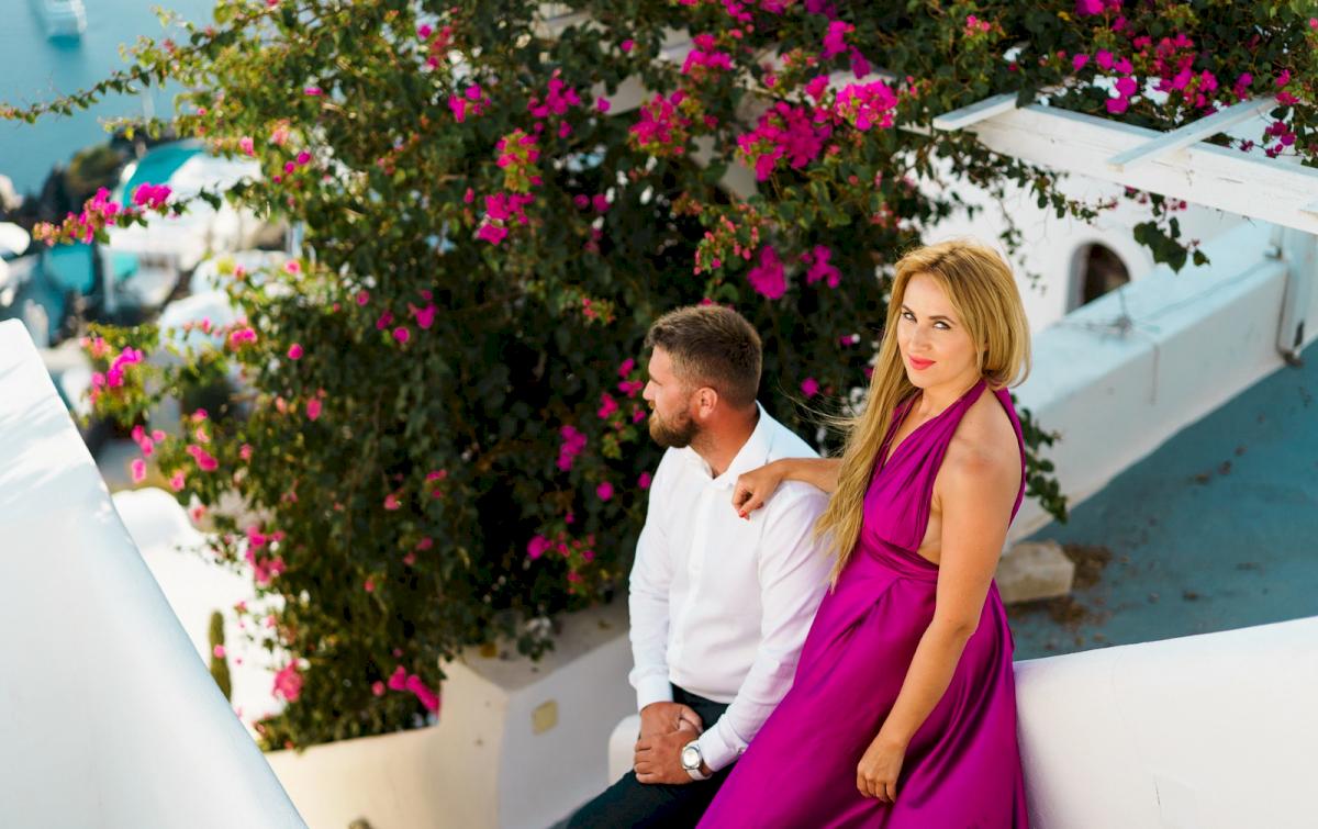 Елена и Виталик: свадьба на санторини, свадебное агентство Julia Veselova - Фото 1