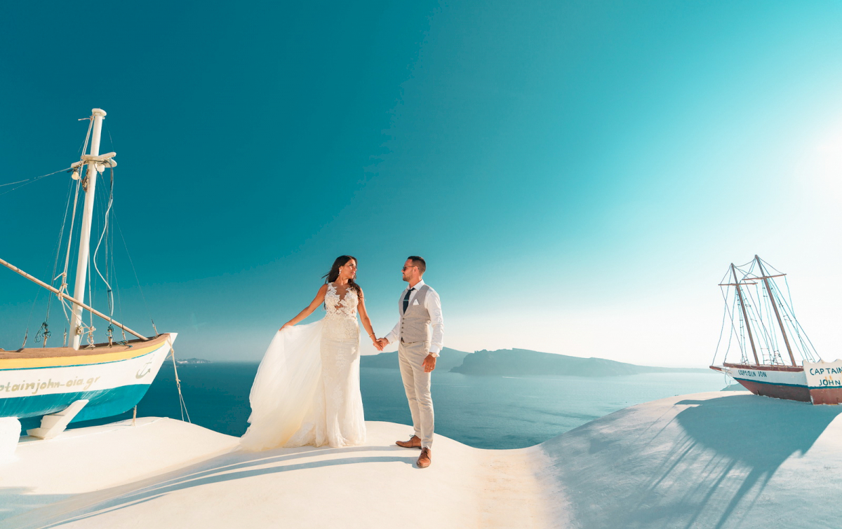 Яна и Рафаэль: свадьба на санторини, свадебное агентство Julia Veselova - Фото 12
