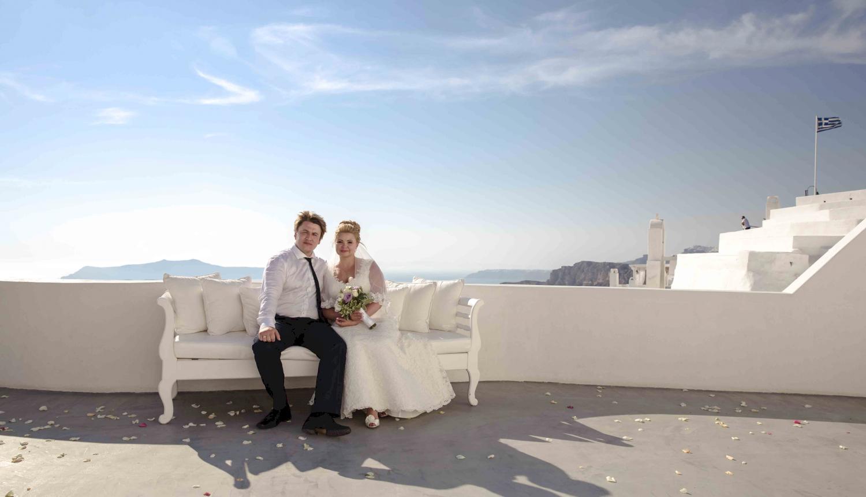 Дарья и Яков: свадьба на санторини, свадебное агентство Julia Veselova - Фото 14
