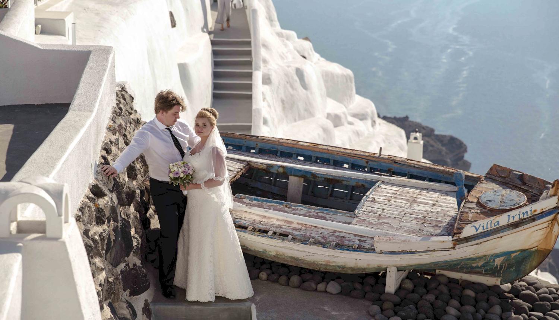 Дарья и Яков: свадьба на санторини, свадебное агентство Julia Veselova - Фото 17