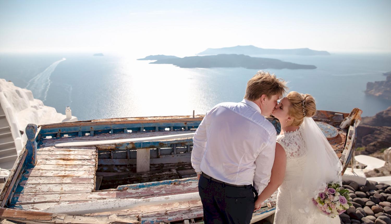 Дарья и Яков: свадьба на санторини, свадебное агентство Julia Veselova - Фото 16
