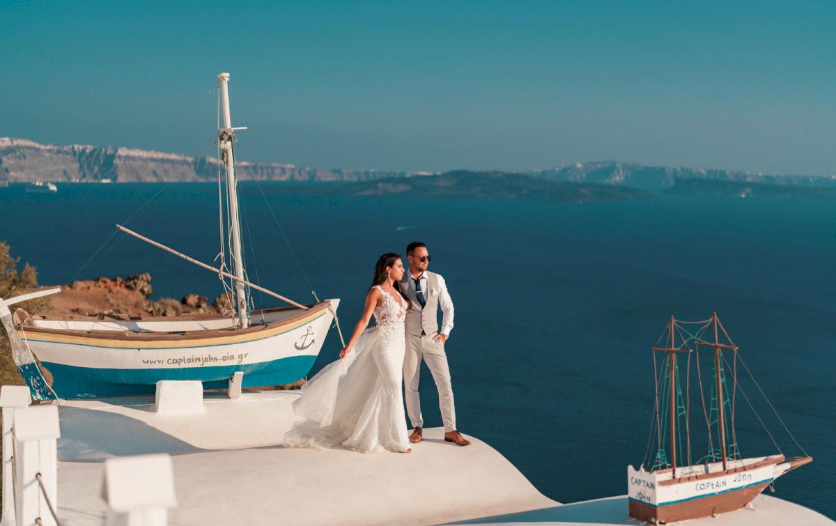 Яна и Рафаэль: свадьба на санторини, свадебное агентство Julia Veselova - Фото 16