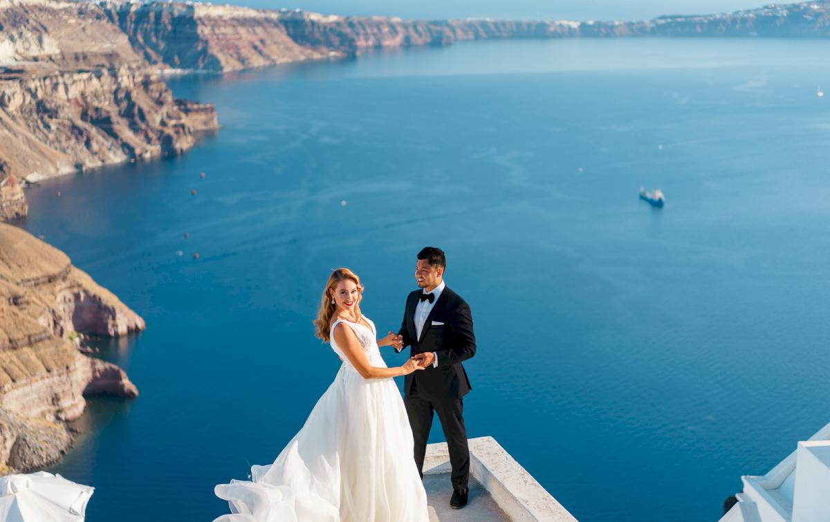 Фредди и Маргарет: свадьба на санторини, свадебное агентство Julia Veselova - Фото 16