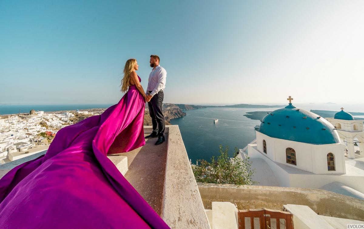 Елена и Виталик: свадьба на санторини, свадебное агентство Julia Veselova - Фото 16