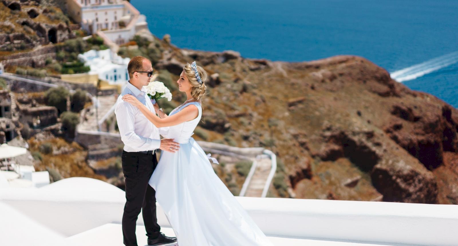 Елена и Олег: свадьба на санторини, свадебное агентство Julia Veselova - Фото 4