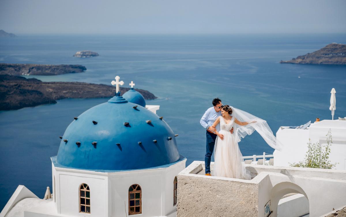 Анна и Андрей: свадьба на санторини, свадебное агентство Julia Veselova - Фото 2