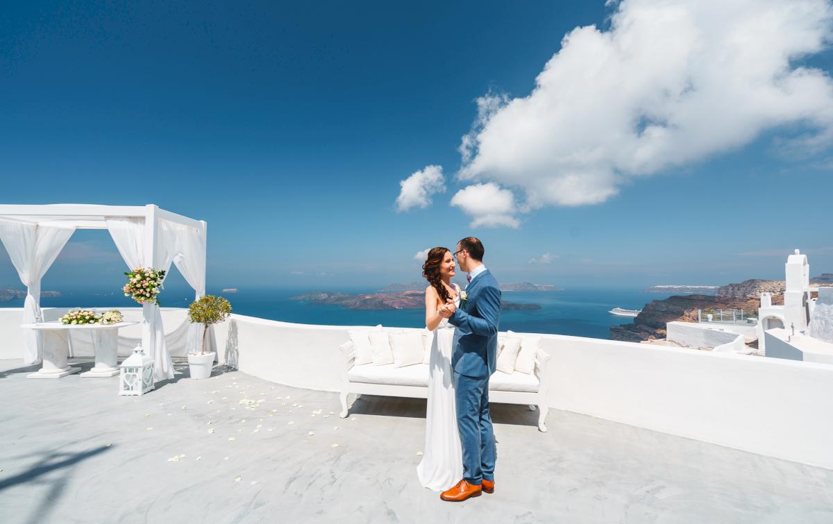 Ирина и Эдуард: свадьба на санторини, свадебное агентство Julia Veselova - Фото 4