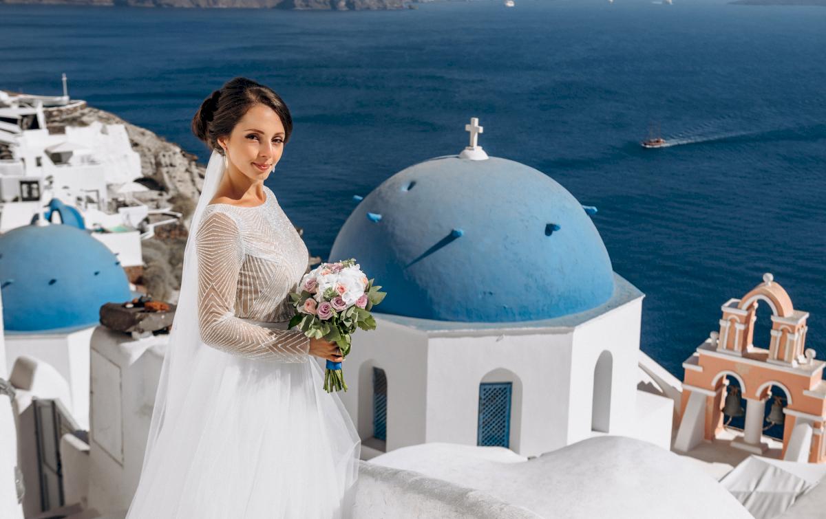 Анастасия и Иван: свадьба на санторини, свадебное агентство Julia Veselova - Фото 14