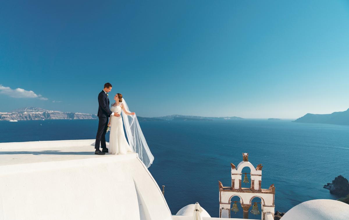 Виолетта и Александр: свадьба на санторини, свадебное агентство Julia Veselova - Фото 1