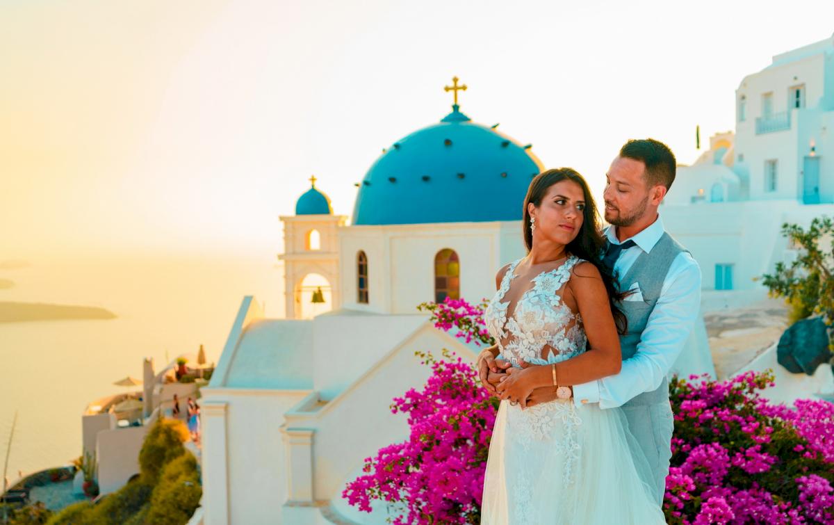 Яна и Рафаэль: свадьба на санторини, свадебное агентство Julia Veselova - Фото 2