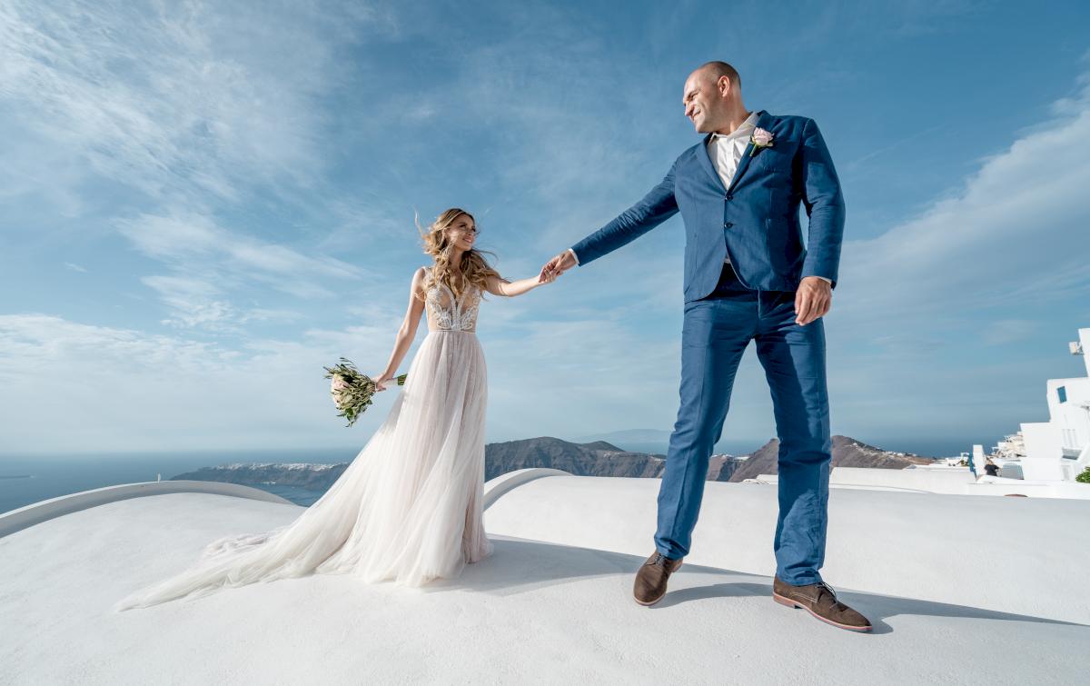 Екатерина и Артем: свадьба на санторини, свадебное агентство Julia Veselova - Фото 5