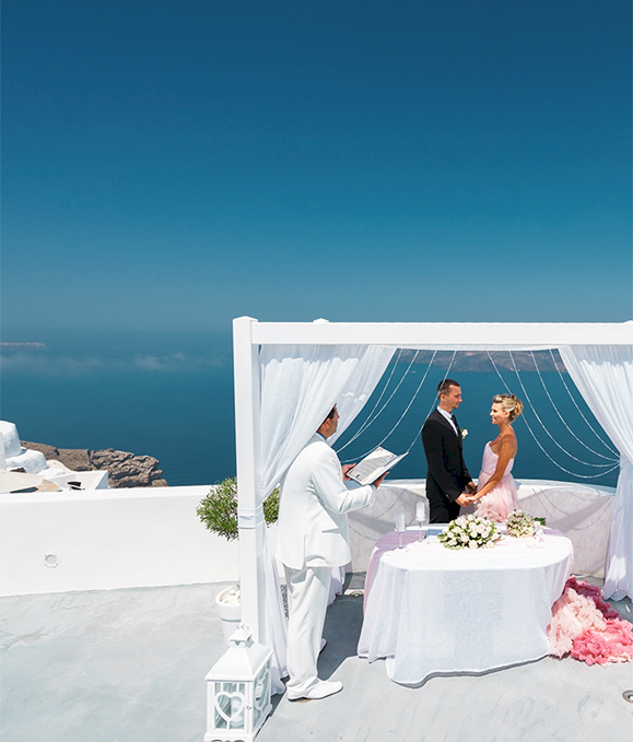 Документы, необходимые для свадьбы и венчания: свадьба на санторини, свадебное агентство Julia Veselova - Фото