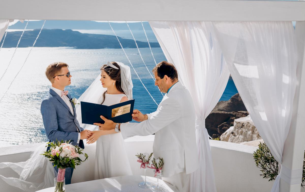 Алексей и Ольга: свадьба на санторини, свадебное агентство Julia Veselova - Фото 19