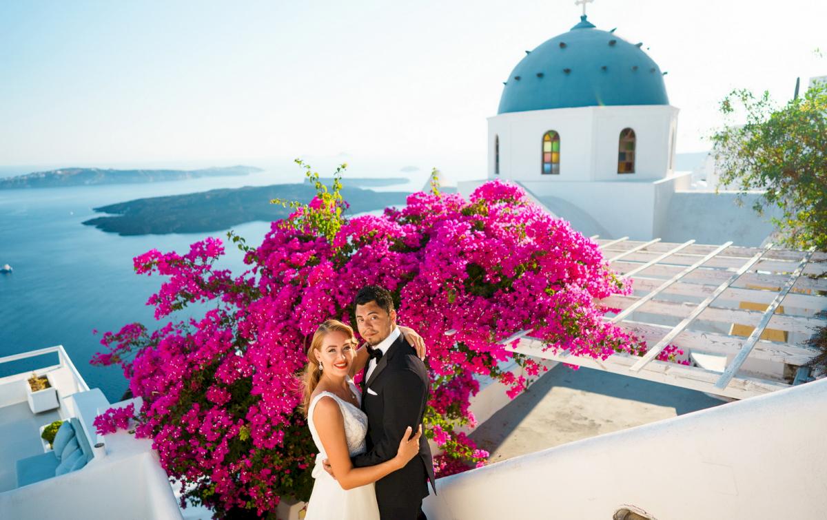 Фредди и Маргарет: свадьба на санторини, свадебное агентство Julia Veselova - Фото 14