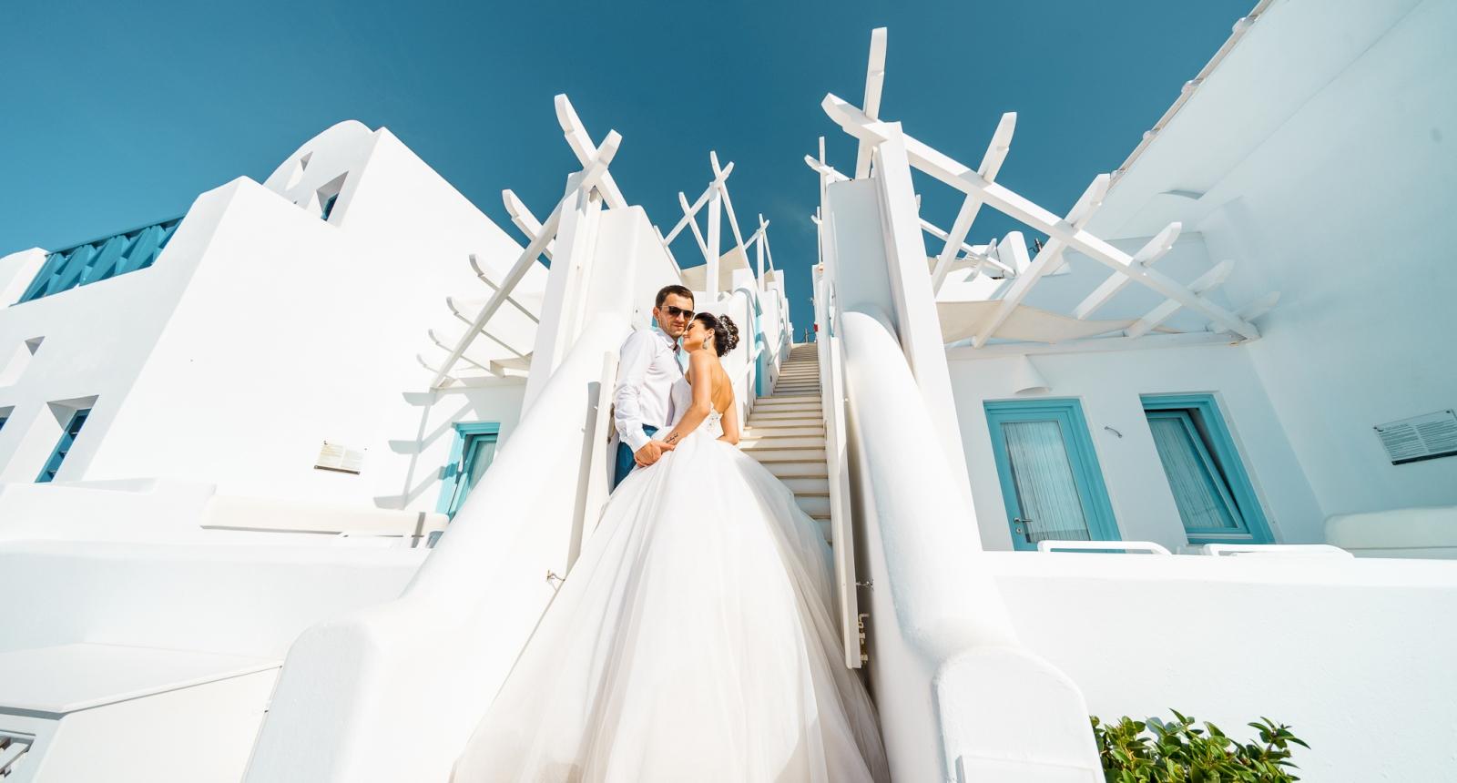 Яна и Денис: свадьба на санторини, свадебное агентство Julia Veselova - Фото 8