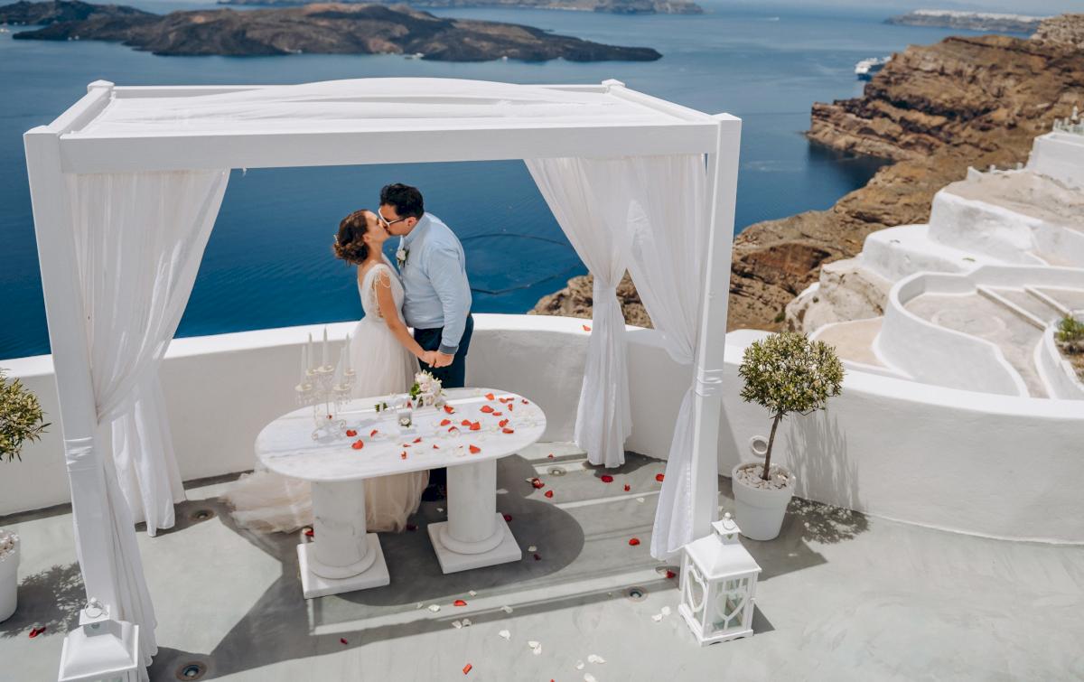 Анна и Андрей: свадьба на санторини, свадебное агентство Julia Veselova - Фото 3