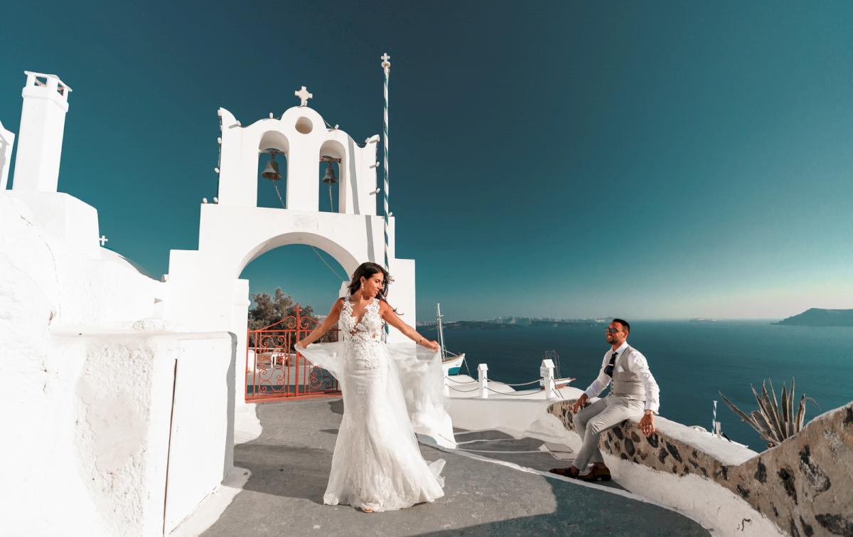 Яна и Рафаэль: свадьба на санторини, свадебное агентство Julia Veselova - Фото 19