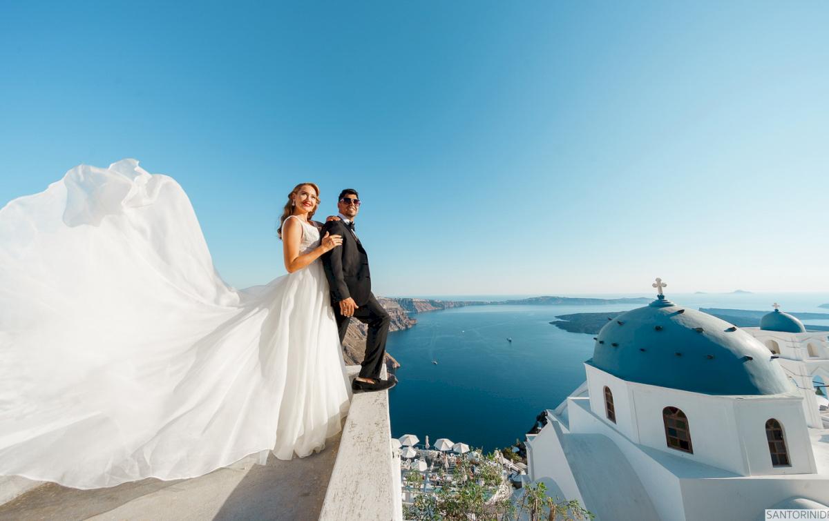 Фредди и Маргарет: свадьба на санторини, свадебное агентство Julia Veselova - Фото 17