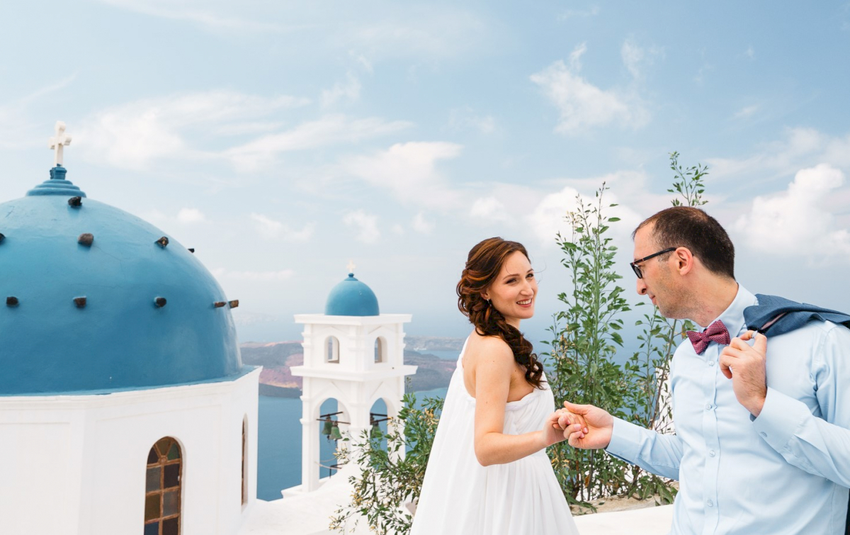 Ирина и Эдуард: свадьба на санторини, свадебное агентство Julia Veselova - Фото 12