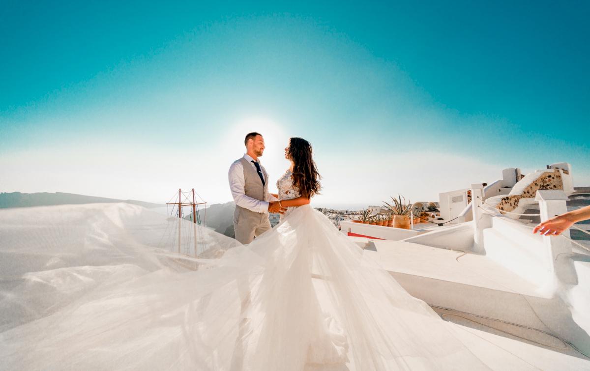 Яна и Рафаэль: свадьба на санторини, свадебное агентство Julia Veselova - Фото 10