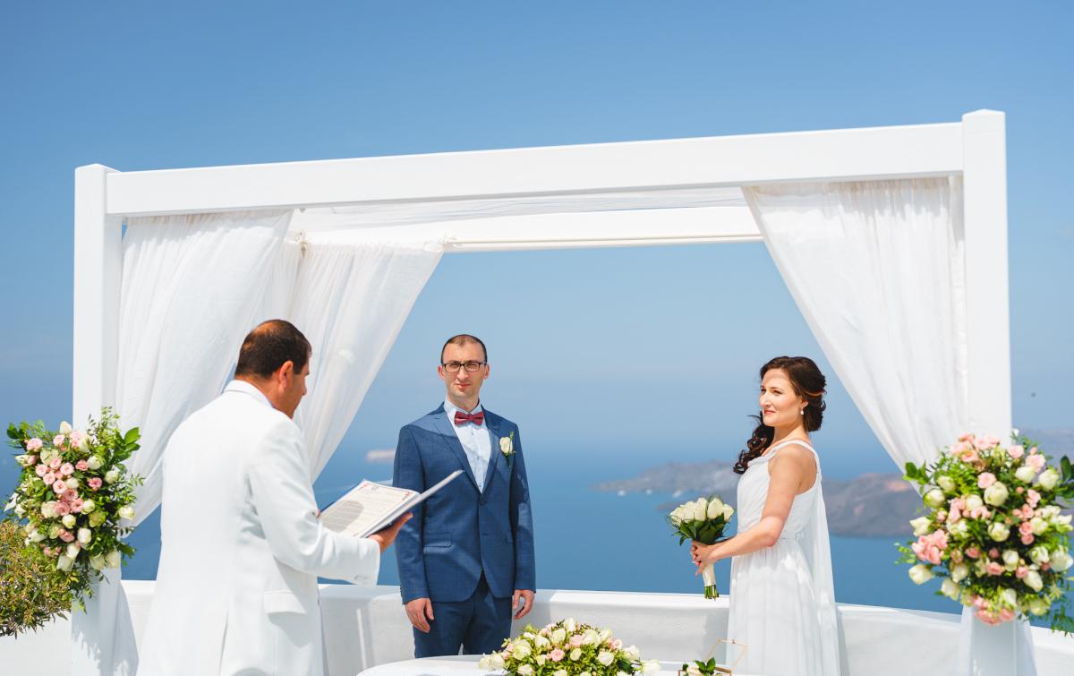 Ирина и Эдуард: свадьба на санторини, свадебное агентство Julia Veselova - Фото 6