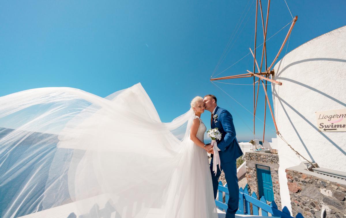 Екатерина и Андрей: свадьба на санторини, свадебное агентство Julia Veselova - Фото 13
