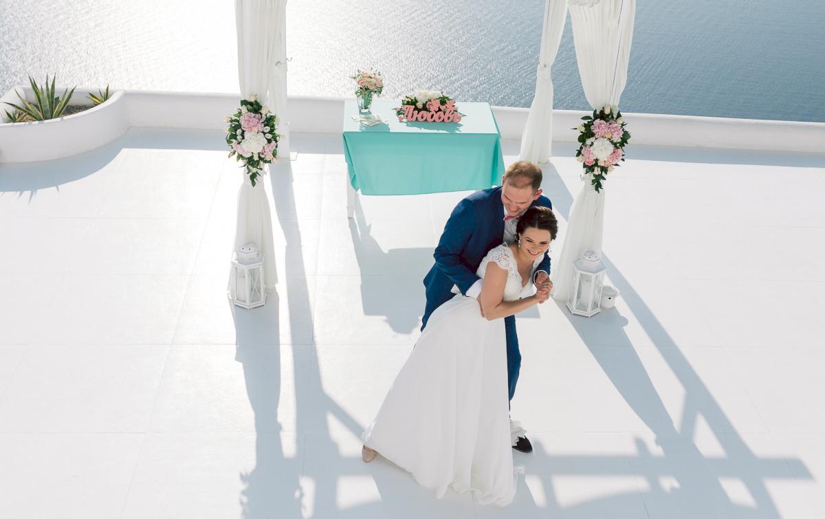 Татьяна и Леонид: свадьба на санторини, свадебное агентство Julia Veselova - Фото 2