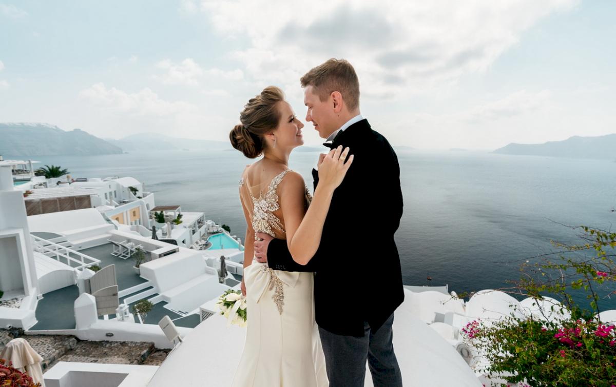 Любовь и Антон: свадьба на санторини, свадебное агентство Julia Veselova - Фото 7