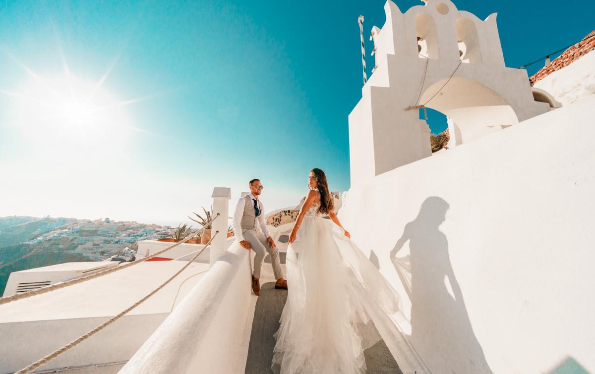 Яна и Рафаэль: свадьба на санторини, свадебное агентство Julia Veselova - Фото 17