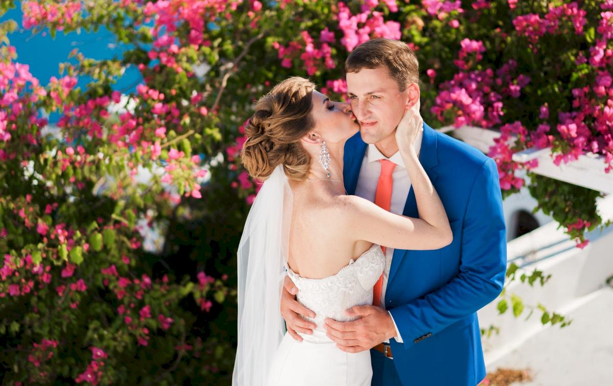 Алена и Рома: свадьба на санторини, свадебное агентство Julia Veselova - Фото 18
