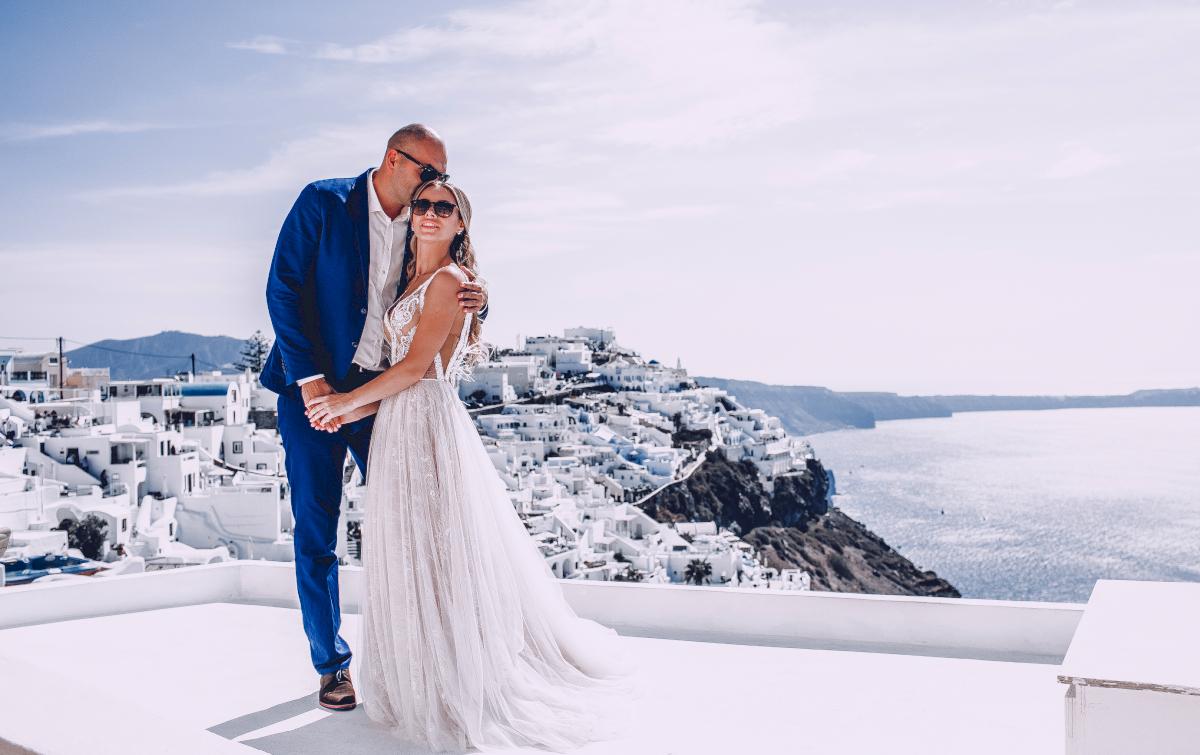 Екатерина и Артем: свадьба на санторини, свадебное агентство Julia Veselova - Фото 12