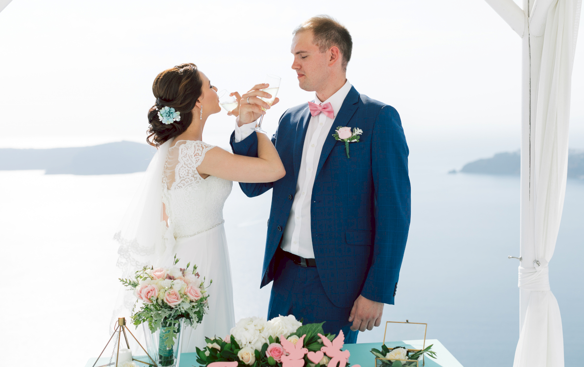 Татьяна и Леонид: свадьба на санторини, свадебное агентство Julia Veselova - Фото 7