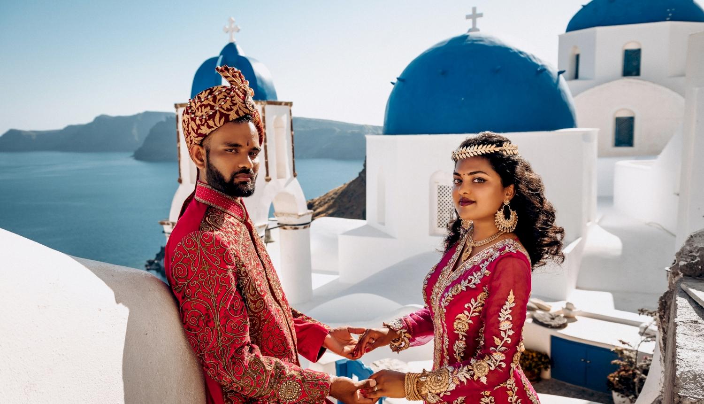 Deni and Kanshu: свадьба на санторини, свадебное агентство Julia Veselova - Фото 8