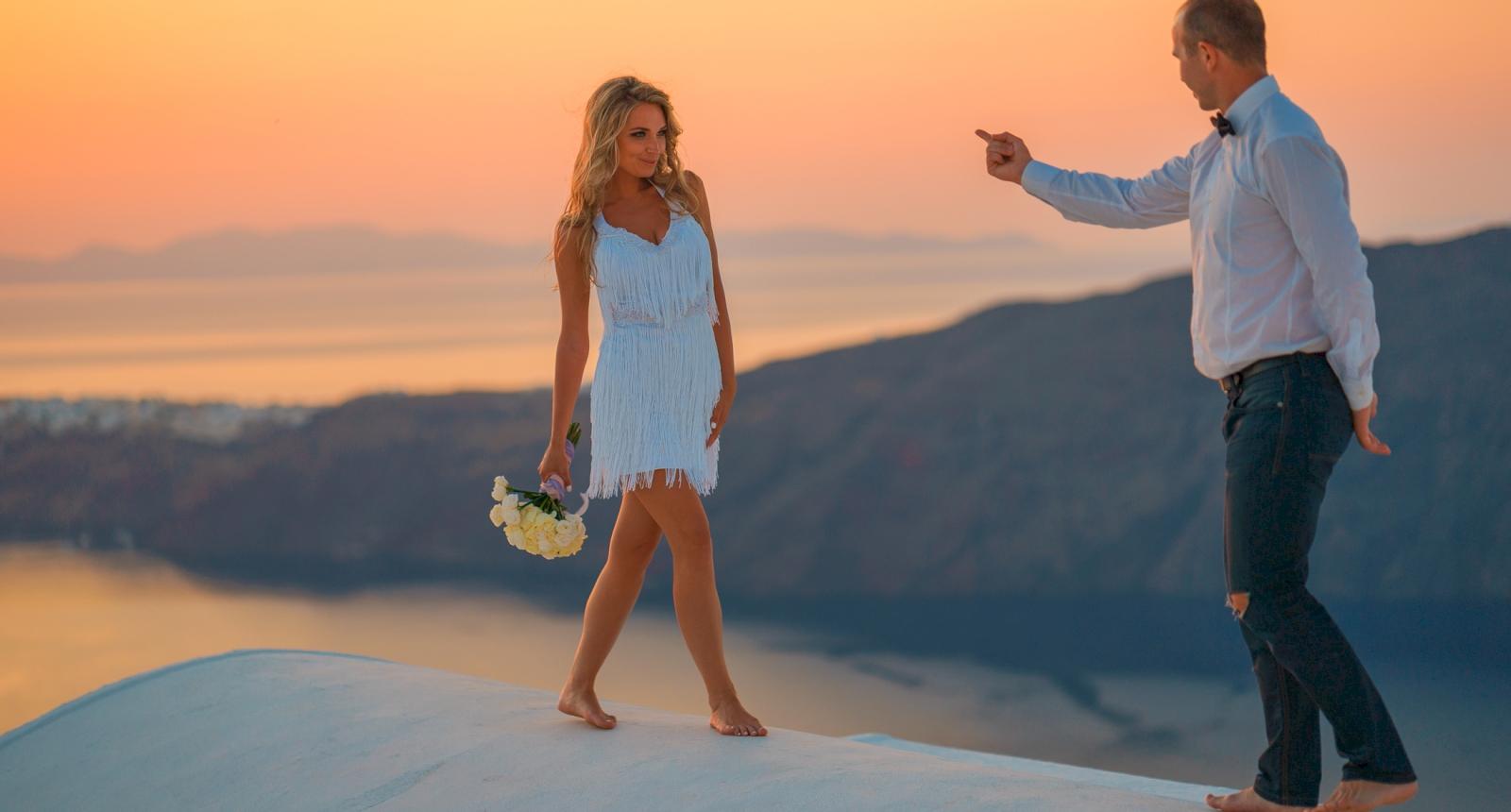 Елена и Олег: свадьба на санторини, свадебное агентство Julia Veselova - Фото 14