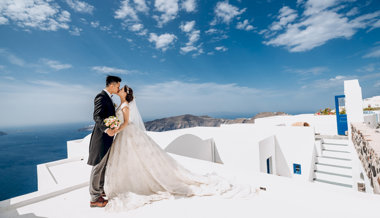 Sugar and Joe: свадьба на санторини, свадебное агентство Julia Veselova - Фото 2