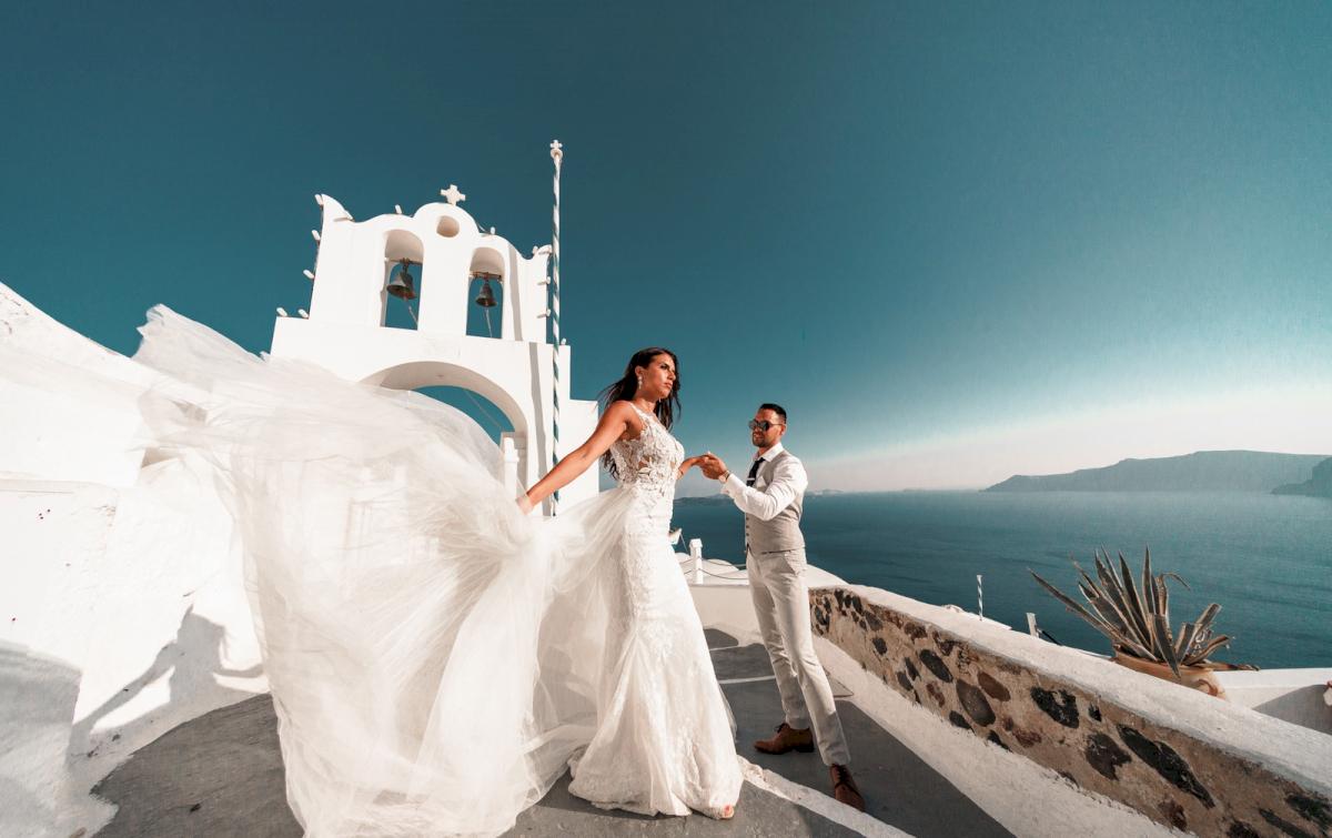 Яна и Рафаэль: свадьба на санторини, свадебное агентство Julia Veselova - Фото 18